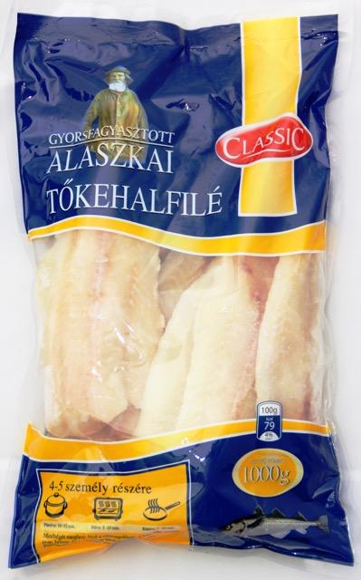 Classic alaszkai tőkehalfilé 1000g